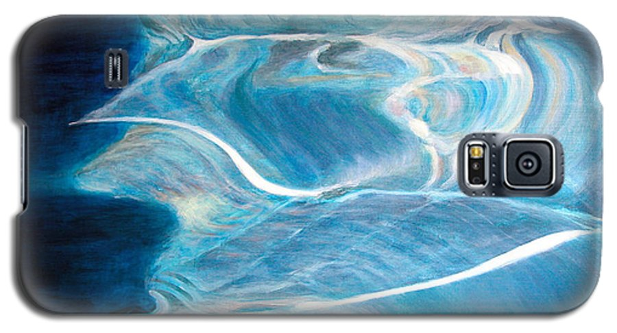 Abstract Galaxy S5 Case featuring the painting Reflet by Muriel Dolemieux
