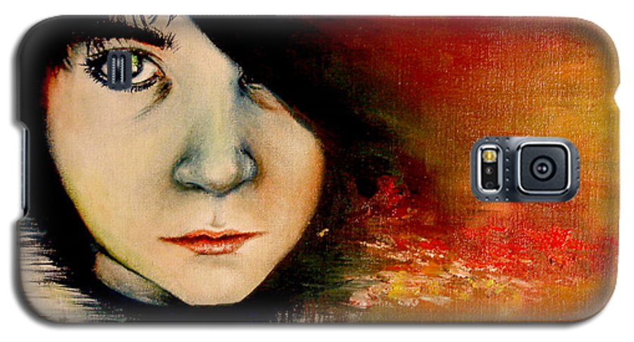Sunset Galaxy S5 Case featuring the painting Regaining Strenght by Freja Friborg
