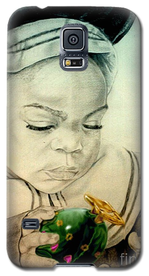 Child Galaxy S5 Case featuring the drawing Regi by Reggie Duffie