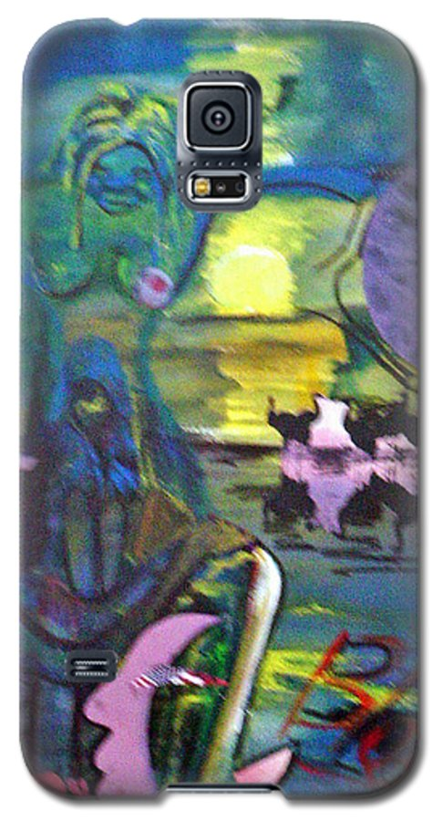 Water Galaxy S5 Case featuring the painting Remembering 9-11 by Peggy Blood