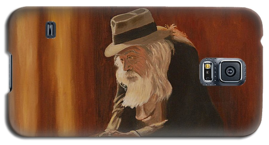 Man Galaxy S5 Case featuring the painting Remembrance by Quwatha Valentine
