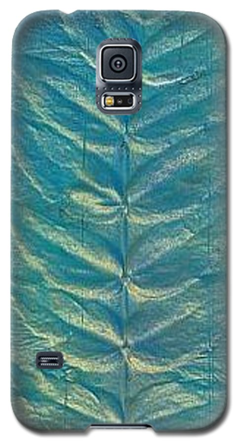 Landscape Galaxy S5 Case featuring the painting Remnant by Rick Silas