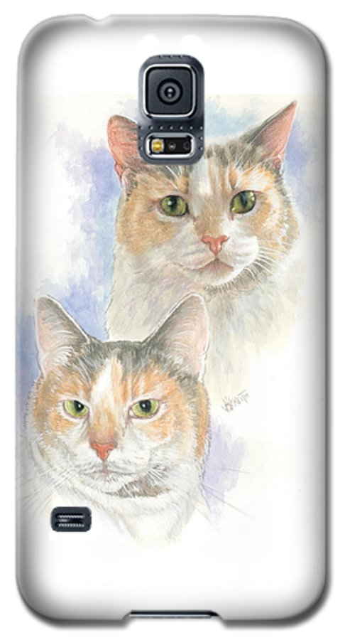 Domestic Cat Galaxy S5 Case featuring the mixed media Reno by Barbara Keith