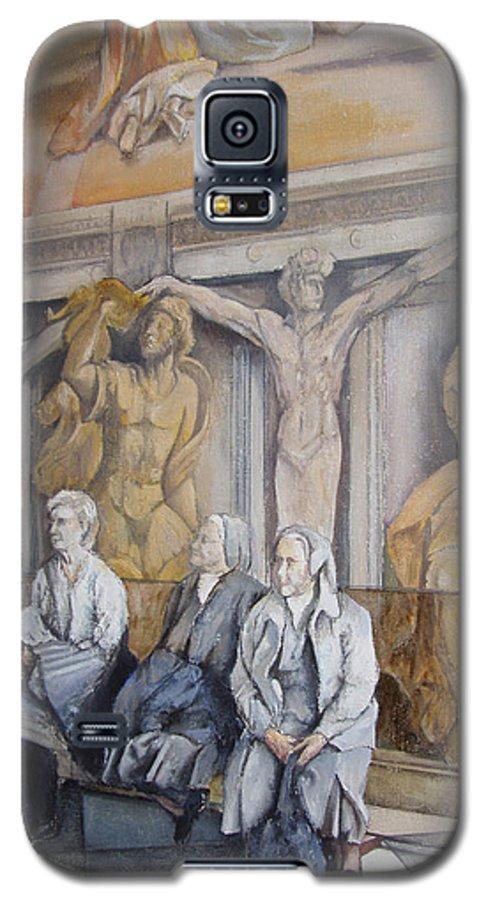 Vaticano Galaxy S5 Case featuring the painting Reposo En El Vaticano by Tomas Castano