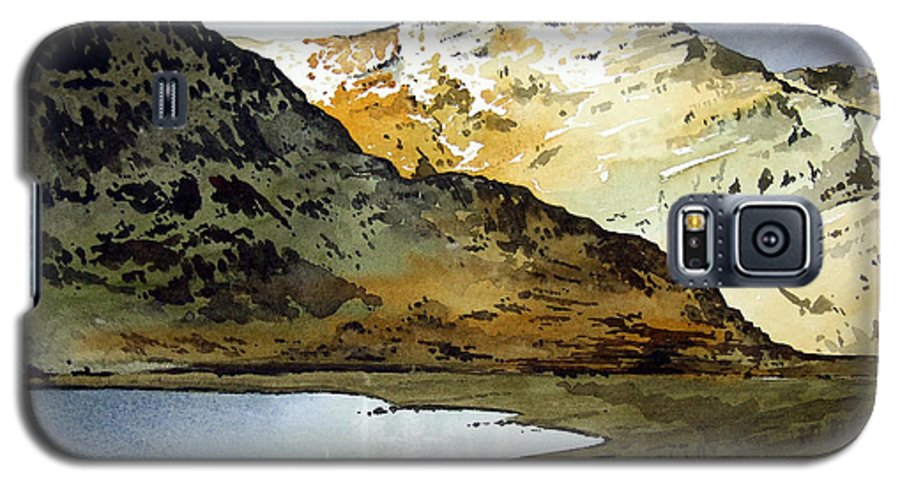 Watercolour Landscape Of Scottish Mountains Galaxy S5 Case featuring the painting Rest And Be Thankful Pass by Paul Dene Marlor