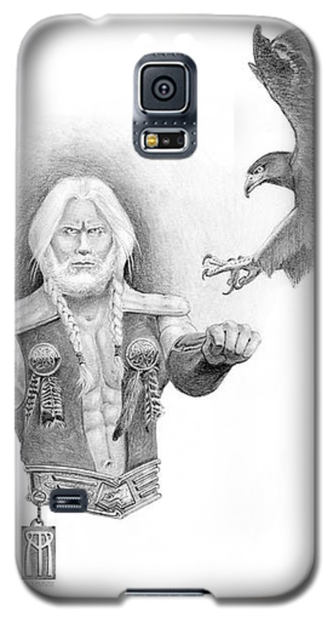 Barbarian Galaxy S5 Case featuring the painting Revan Ramstedder by Melissa A Benson