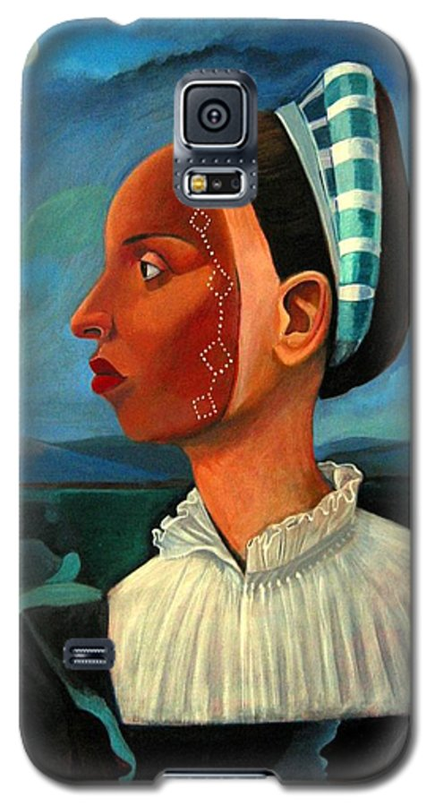 Woman Galaxy S5 Case featuring the painting Revealed Truths And Myths IIi by Joyce Owens