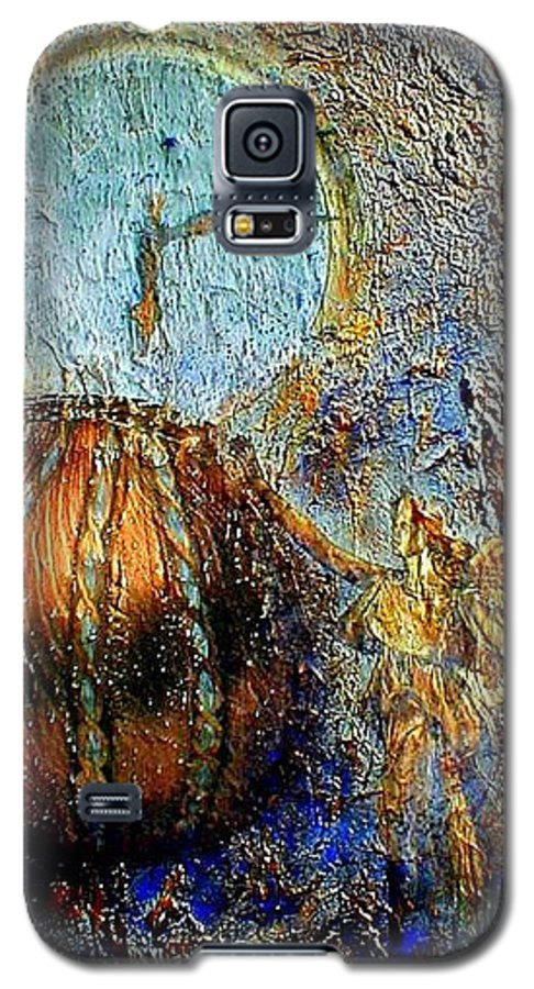 Christian Galaxy S5 Case featuring the mixed media Revelation by Gail Kirtz