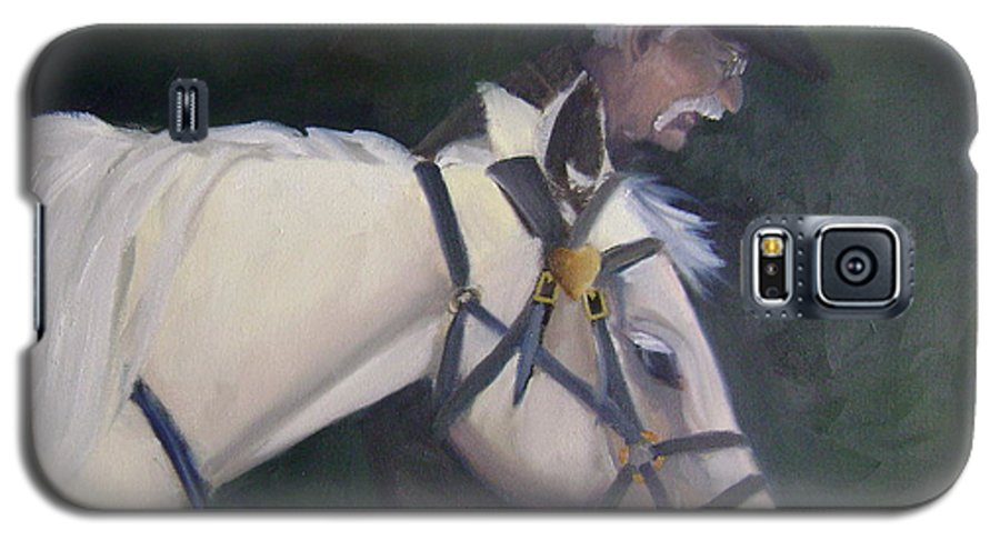 Old Man Horse... Galaxy S5 Case featuring the painting revised- Man's Best Friend by Toni Berry