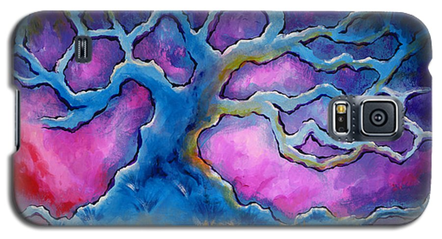 Landscape Galaxy S5 Case featuring the painting Ria by Jennifer McDuffie