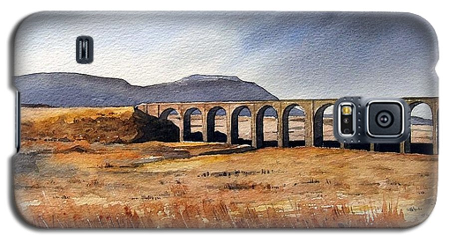 Landscape Galaxy S5 Case featuring the painting Ribblehead Viaduct by Paul Dene Marlor