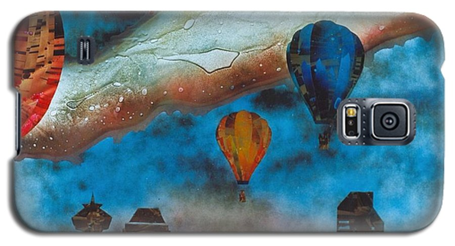 Landscape Galaxy S5 Case featuring the painting Riding The Chinook by Rick Silas