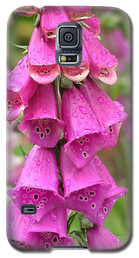 Fox Glove Galaxy S5 Case featuring the photograph Ringing Bells by Louise Magno