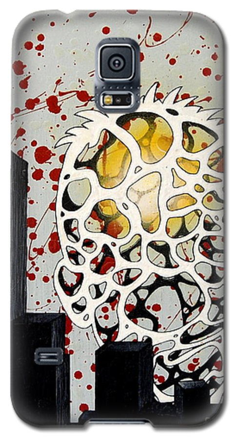 Energy Galaxy S5 Case featuring the painting Rise by A 2 H D