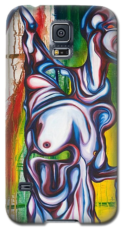 Monster Galaxy S5 Case featuring the painting Rising Son by Sheridan Furrer