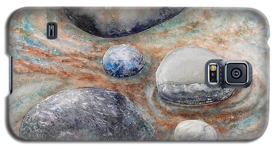 Abstract Galaxy S5 Case featuring the painting River Rock 2 by Valerie Meotti