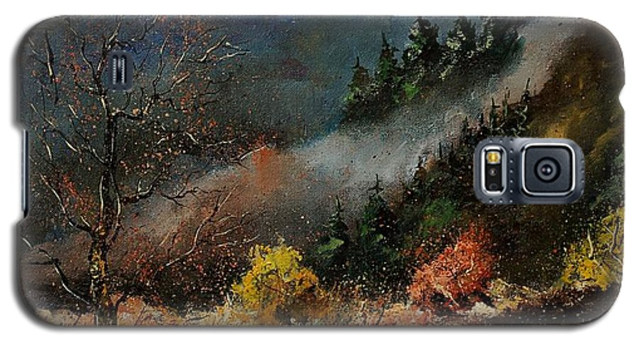 River Galaxy S5 Case featuring the painting River Semois by Pol Ledent