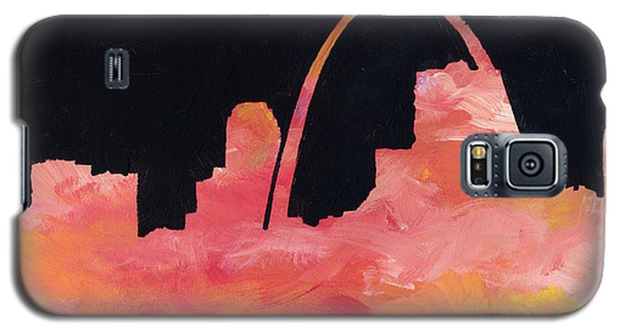 Cityscape Galaxy S5 Case featuring the painting Riverfront by Joseph A Langley