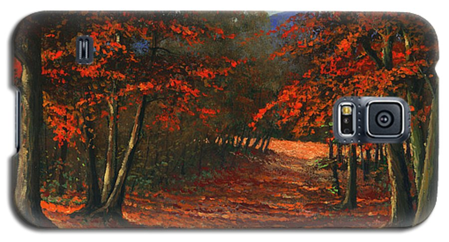 Landscape Galaxy S5 Case featuring the painting Road To The Clearing by Frank Wilson