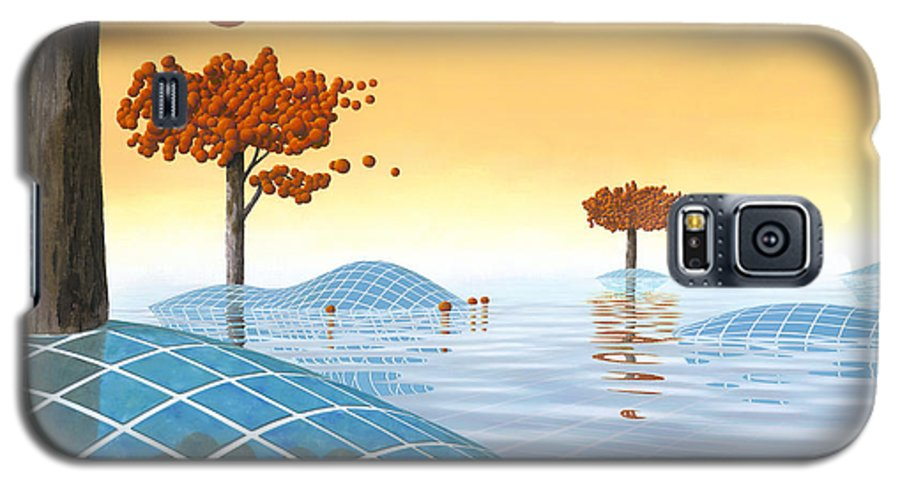 Architecture Galaxy S5 Case featuring the painting Robinia Natatalis by Patricia Van Lubeck
