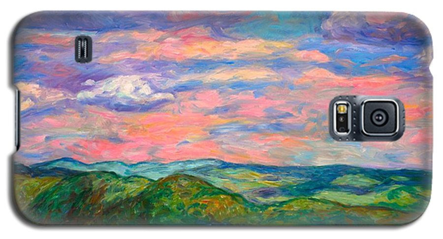 Landscape Paintings Galaxy S5 Case featuring the painting Rock Castle Gorge by Kendall Kessler