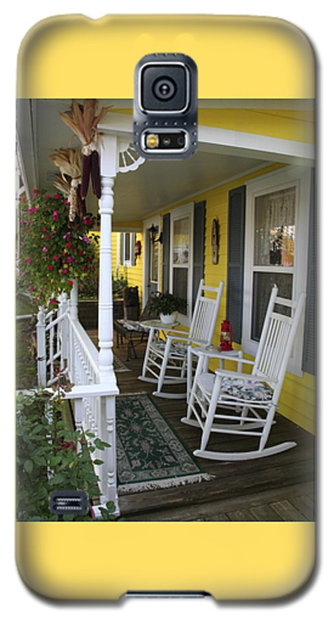 Rocking Chair Galaxy S5 Case featuring the photograph Rockers On The Porch by Margie Wildblood