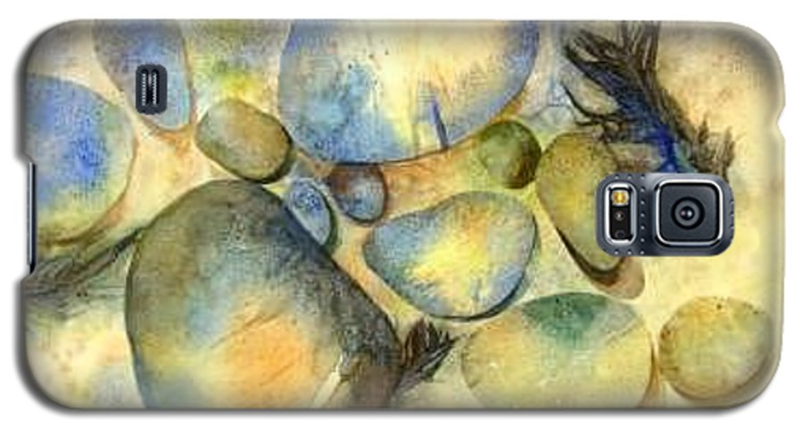 Rocks And Feathers Galaxy S5 Case featuring the painting Rocks And Feather by Marlene Gremillion