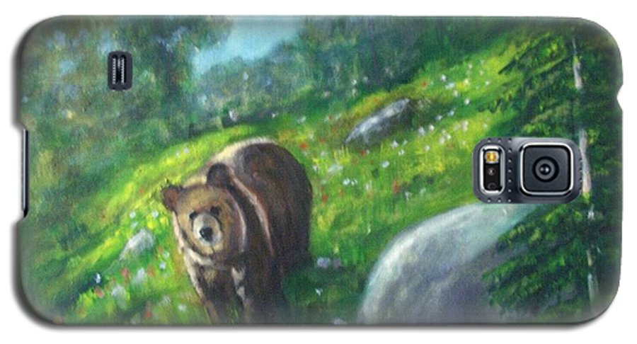 Wildlife Galaxy S5 Case featuring the painting Rocky Mountain Spring by Darla Joy Johnson