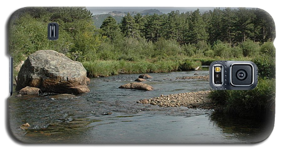 Nature Galaxy S5 Case featuring the photograph Rocky Mountain Stream by Kathy Schumann