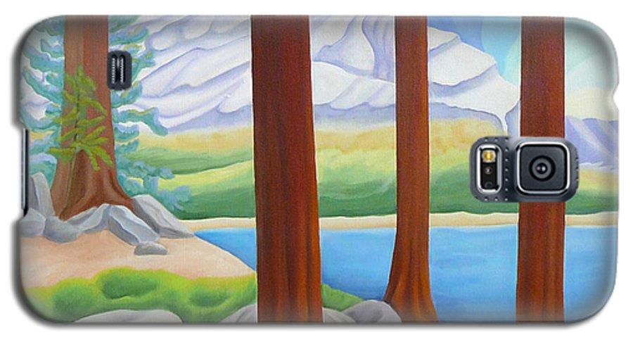 Landscape Galaxy S5 Case featuring the painting Rocky Mountain View 1 by Lynn Soehner