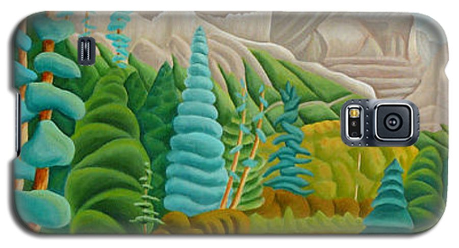 Landscape Galaxy S5 Case featuring the painting Rocky Mountain View 2 by Lynn Soehner