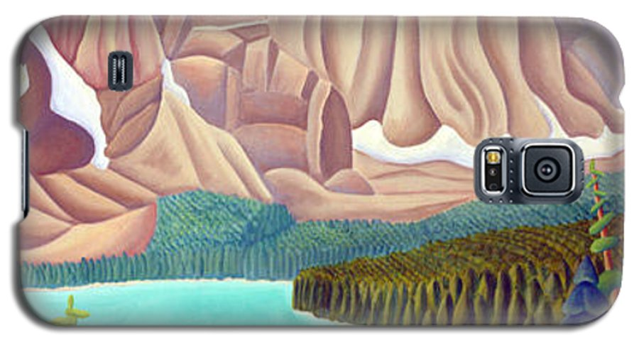 Landscape Galaxy S5 Case featuring the painting Rocky Mountain View 3 by Lynn Soehner