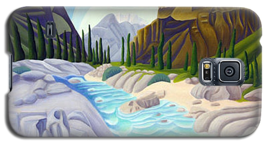Landscape Galaxy S5 Case featuring the painting Rocky Mountain View 5 by Lynn Soehner