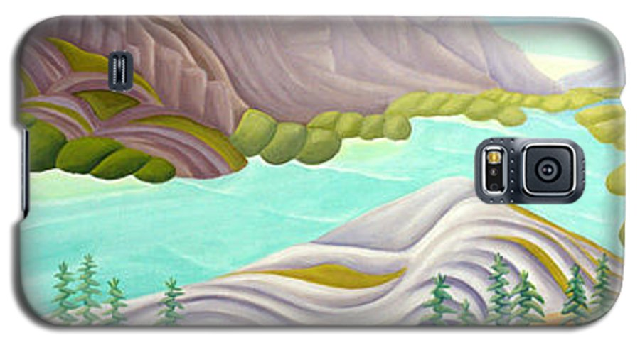 Landscape Galaxy S5 Case featuring the painting Rocky Mountain View 6 by Lynn Soehner
