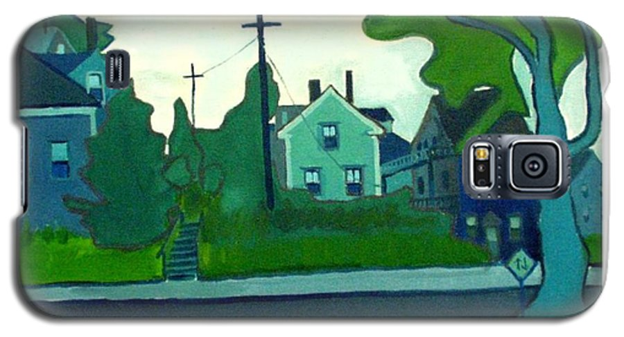 Landscape Galaxy S5 Case featuring the painting Rocky Neck Art Colony East Gloucester Ma by Debra Bretton Robinson