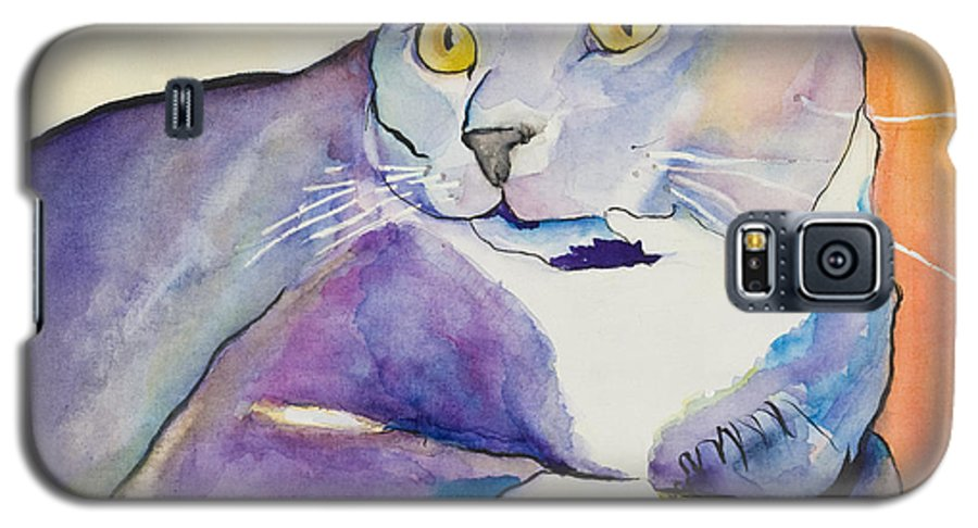 Pat Saunders-white Galaxy S5 Case featuring the painting Rocky by Pat Saunders-White