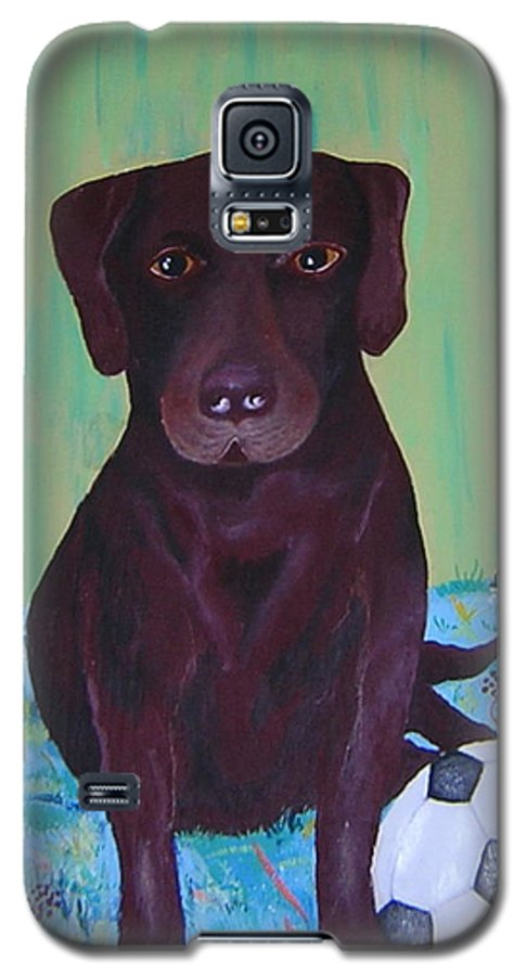 Dog Galaxy S5 Case featuring the painting Rocky by Valerie Josi