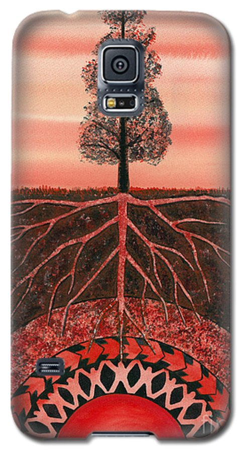 Chakra Galaxy S5 Case featuring the painting Root Chakra by Catherine G McElroy