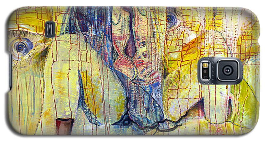 Portrait Galaxy S5 Case featuring the painting Roots by Peggy Blood