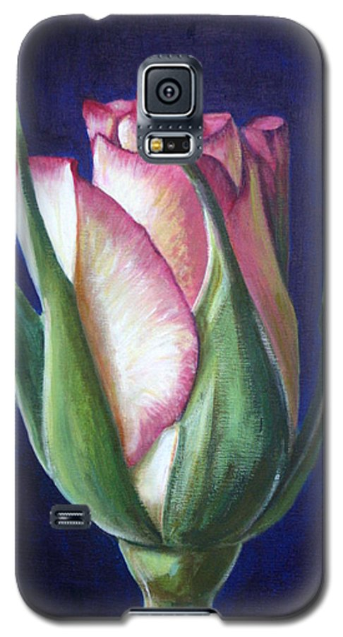Rose Galaxy S5 Case featuring the painting Rose Bud by Fiona Jack