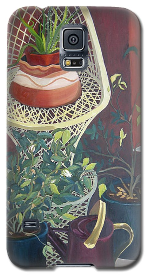 Still Life Galaxy S5 Case featuring the painting Rose Buds by Antoaneta Melnikova- Hillman