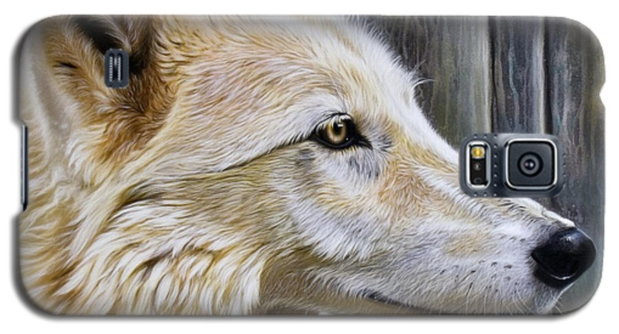 Wolves Galaxy S5 Case featuring the painting Rose by Sandi Baker