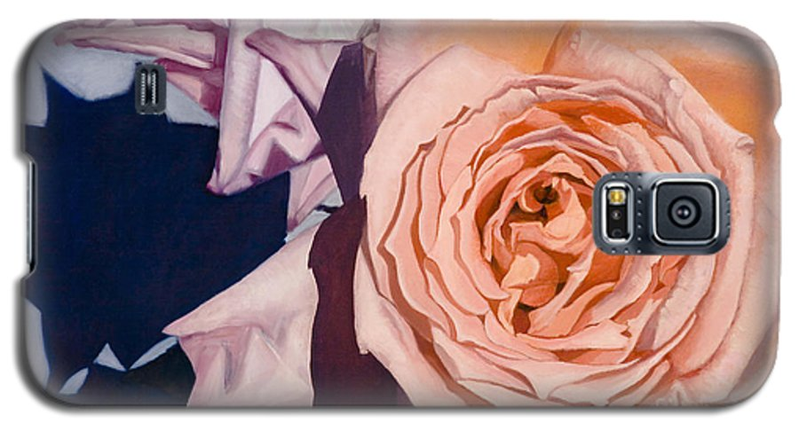 Roses Galaxy S5 Case featuring the painting Rose Splendour by Kerryn Madsen-Pietsch