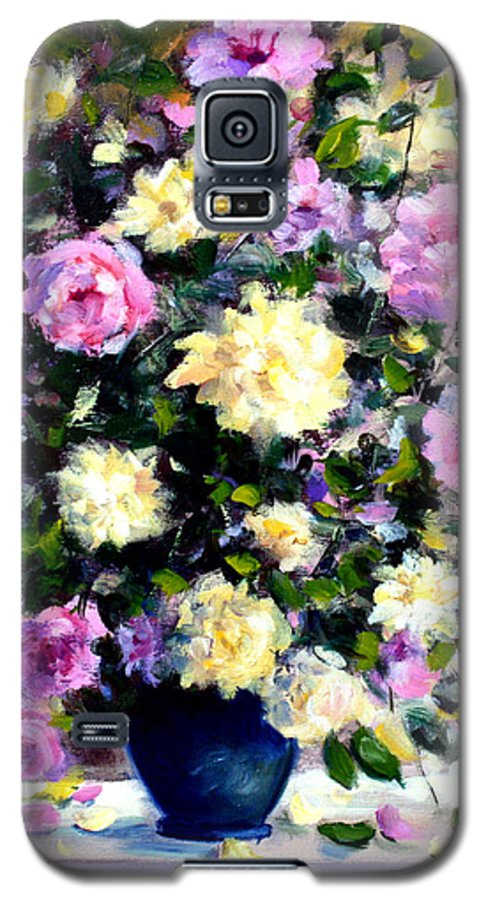 Roses Galaxy S5 Case featuring the painting Roses by Mario Zampedroni