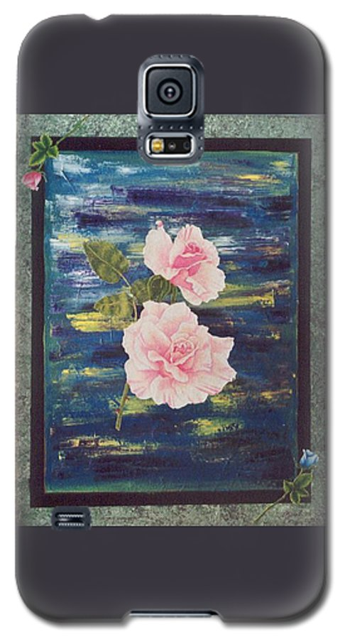 Rose Galaxy S5 Case featuring the painting Roses by Micah Guenther