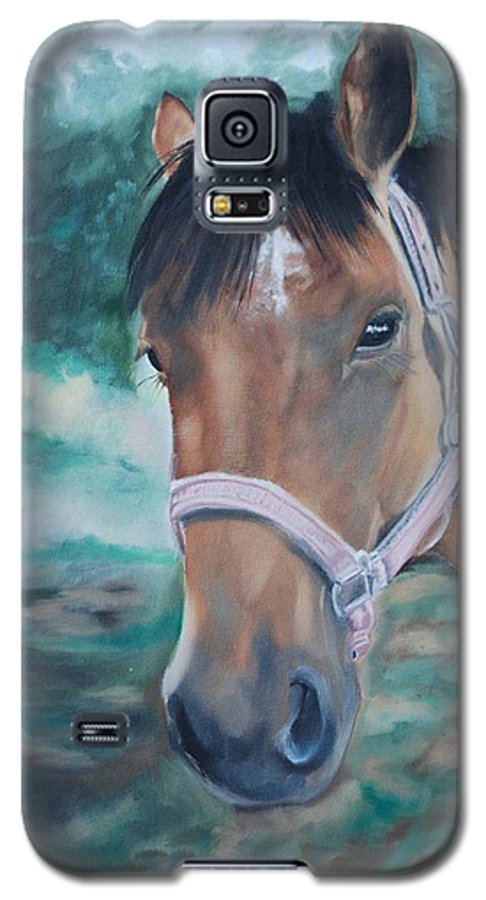 Horse Galaxy S5 Case featuring the painting Rosie by Margaret Fortunato