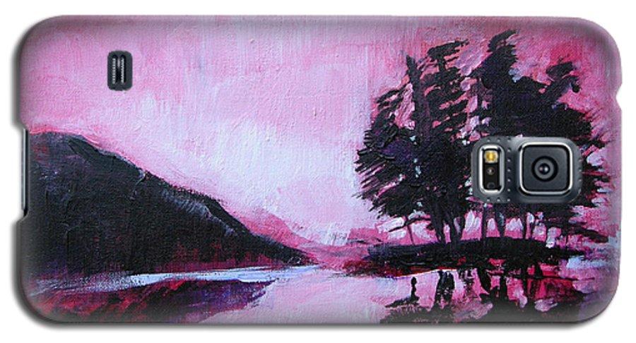 Ruby Dawn Galaxy S5 Case featuring the painting Ruby Dawn by Seth Weaver