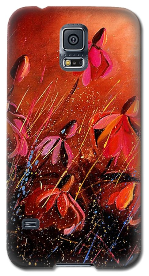 Poppies Galaxy S5 Case featuring the painting Rudbeckia's 45 by Pol Ledent