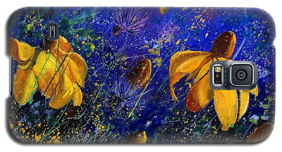 Poppies Galaxy S5 Case featuring the painting Rudbeckia's by Pol Ledent