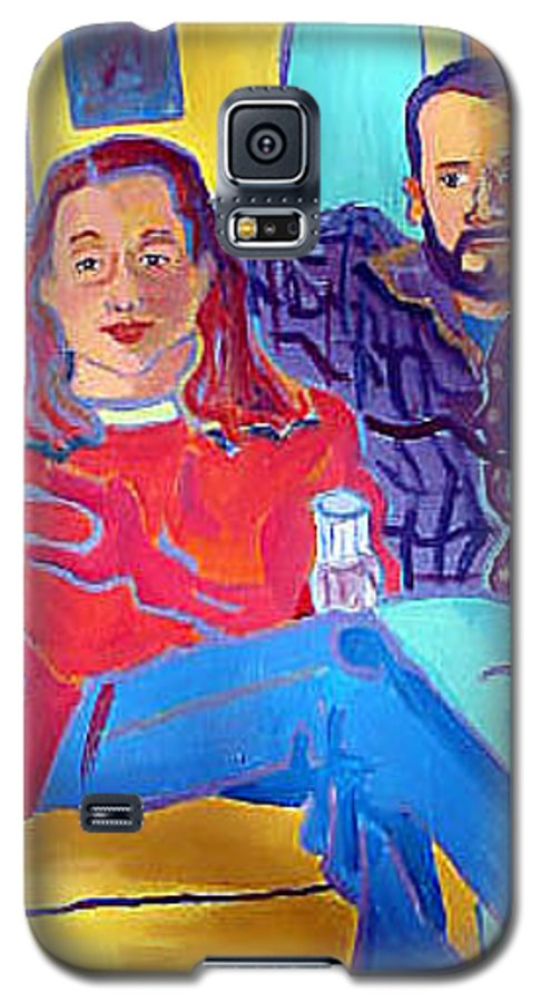 Portraits Galaxy S5 Case featuring the painting Rudy And Molly by Debra Bretton Robinson